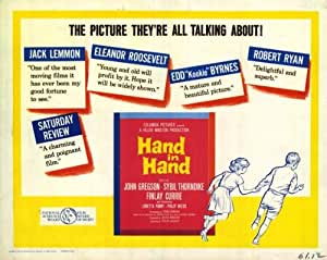 Hand in Hand Movie Poster (22 x 28 Inches - 56cm x 72cm) (1960) Half Sheet -(Kathleen Byron)(Finlay Currie)(Arnold Diamond)(Eric Francis)(Denis Gilmore)