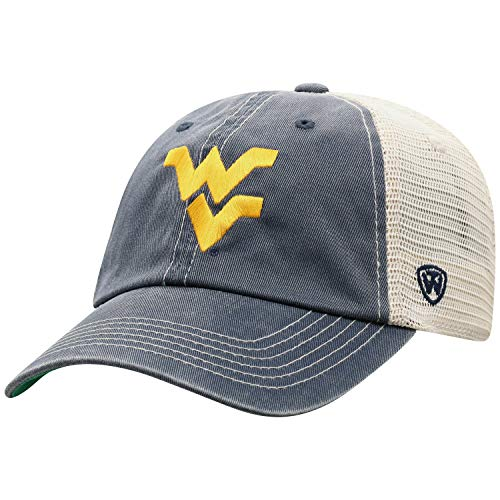- Top of the World West Virginia Mountaineers Men's Vintage Hat Icon, Navy, Adjustable