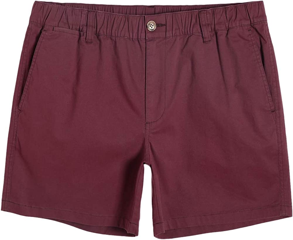 """MaaMgic Men's Classic-fit 5.5"""" Cotton Casual Shorts Elastic Waistband with Multi-Pocket Daily Wear Walking Summer Outfit"""