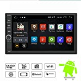 Yody Andriod 6.0 Double Din Car Stereo with Bluetooth GPS Navigation System,HD Touchscreen Car Radio Multimedia Player,Support Mirror Link/Airplay,WIFI,Hands-free Call,Backup camera