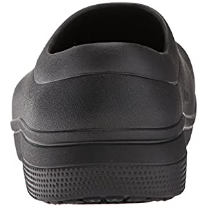 Crocs On The Clock Work Slipon Medical Professional Shoe, Black, 7 US Men/9 US Women M US