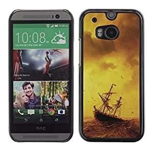 Graphic4You Ship On The Storm Sea Design Hard Case Cover for HTC One (M8) wangjiang maoyi