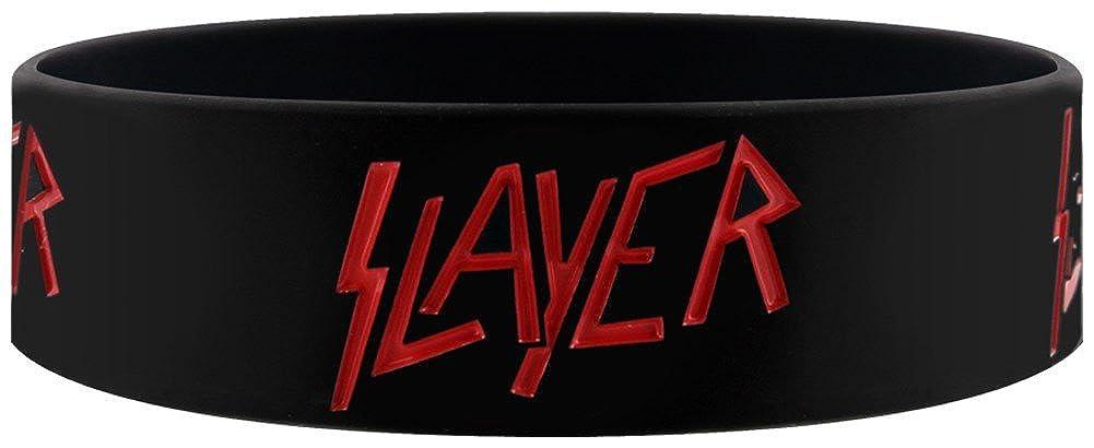 Officiel Slayer Logo Bracelet (Noir) Armband