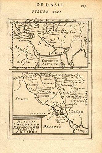 Ancient Assyrian Empire Chaldea Mesopotamia Euphrates Asia Iraq. Mallet - 1683 - old map