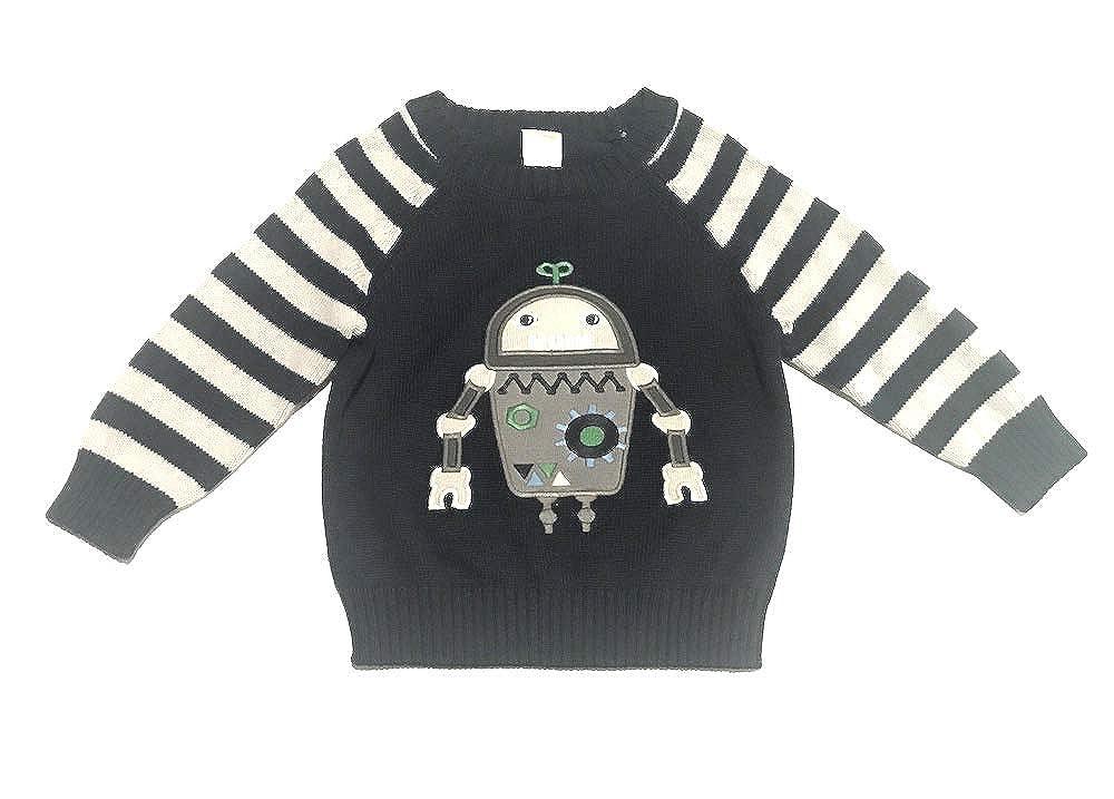 Gymboree Baby Boys Robot Appliqu/é Sweater 12-18 Months
