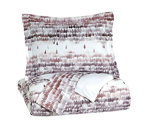 Signature Design by Ashley Q264003Q Danessa 3 Piece Duvet Cover Set, Queen, (Ashley Furniture Brush)