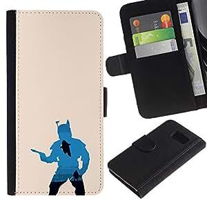 JackGot ( Boba Fett Silhouette ) Sony Sony Xperia Z1 Compact / Z1 Mini (Not Z1) la tarjeta de Crédito Slots PU Funda de cuero Monedero caso cubierta de piel