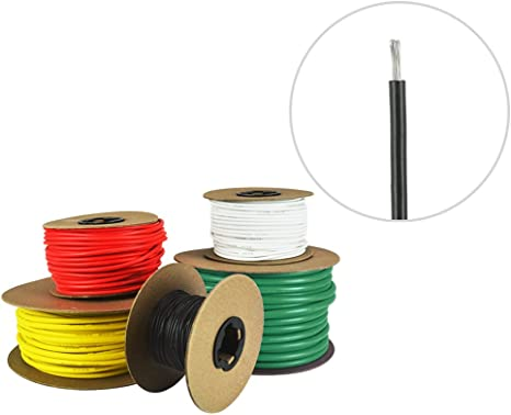Red Made in USA 10 AWG Marine Wire Spool Tinned Copper Primary Boat Cable 25 ft