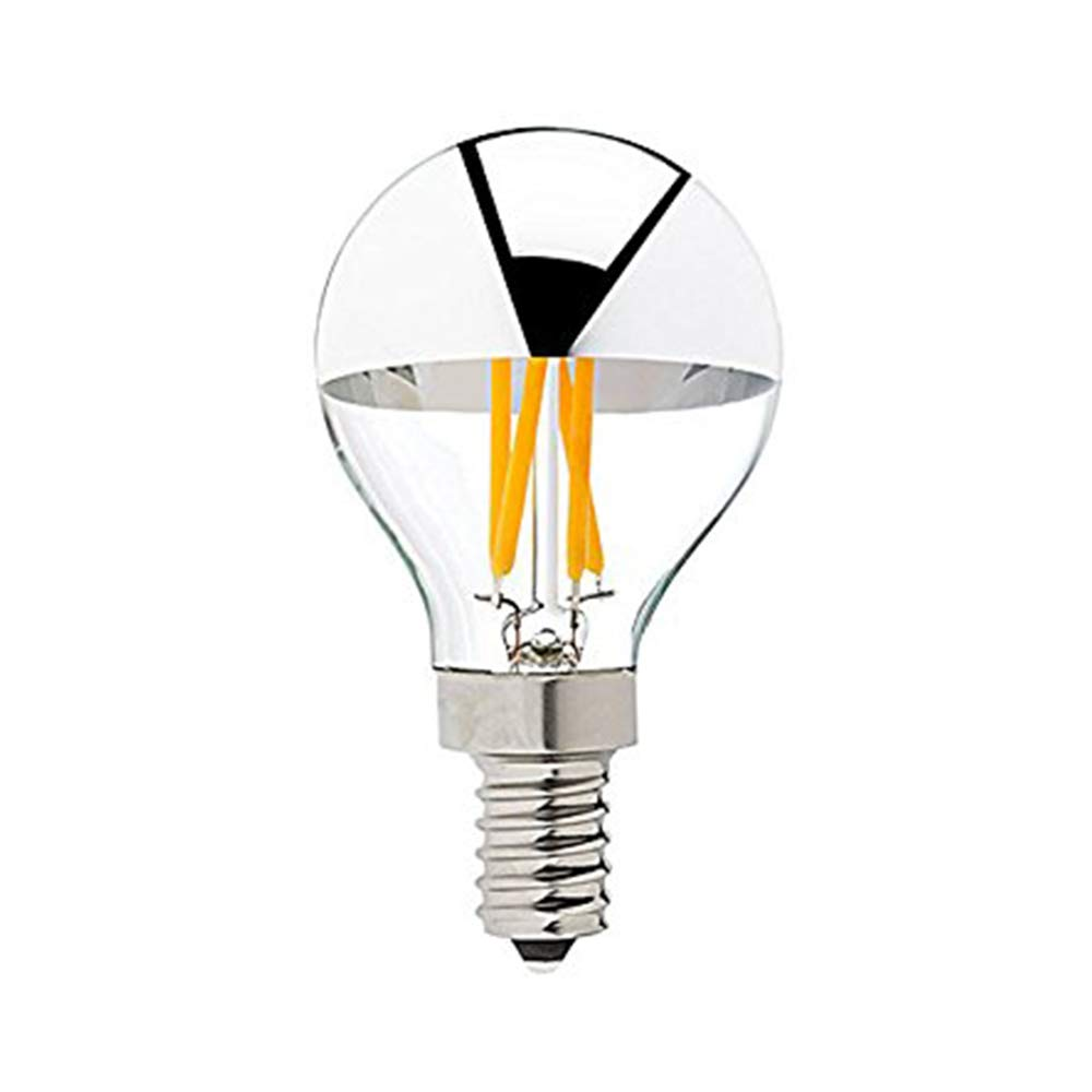 Century Light - G45 Edison Style LED Bulb 4W - Silver Tipped LED Filament Light Bulb - 40 Watt Equivalent - E12 Candelabra Base Lamp - Warm White 2700K UL-Listed Dimmable - 10Pack
