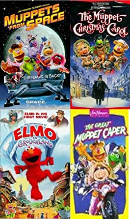 Muppet Christmas Carol Vhs.Amazon Com Elmo Muppets Set 4 Vhs Muppets From Space