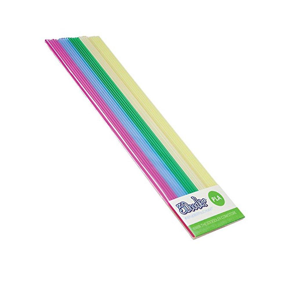 3doodler – Filaments pla to the pen -5x5pcs lt pnk/lt blu/grn/wht/fluoresc