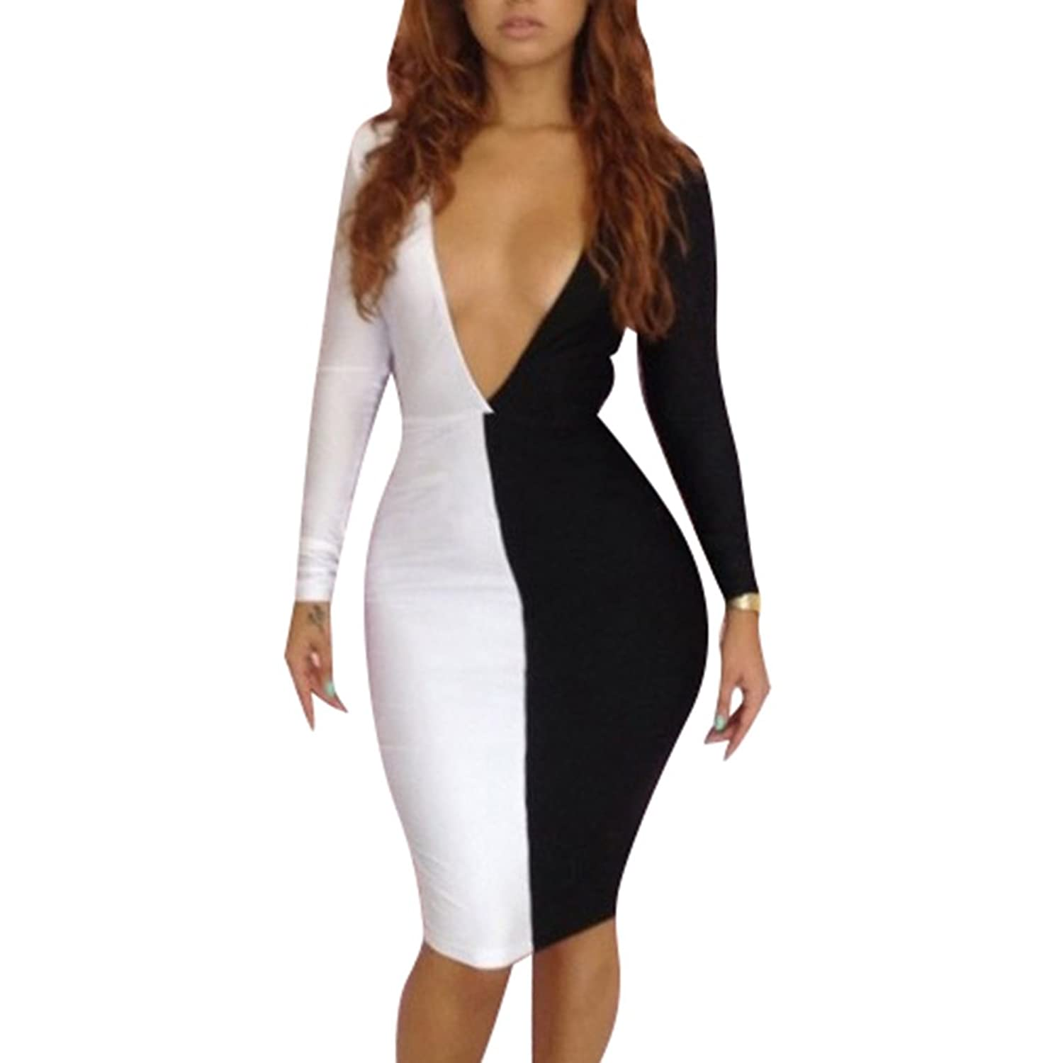 iecool Sexy Vestido Nightclub Dresses Women Bandage Club Wear Bodycon Dress L