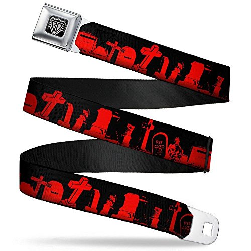 Seatbelt Belt - Graveyard Black/Red REGULAR ()