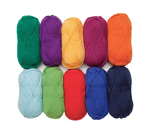 - Wool of The Andes Worsted Weight Yarn (10 Balls - Rainbow)