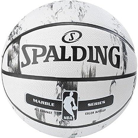Spalding NBA Marble BW out Sz. 7 (83-635Z) Balón de Baloncesto ...
