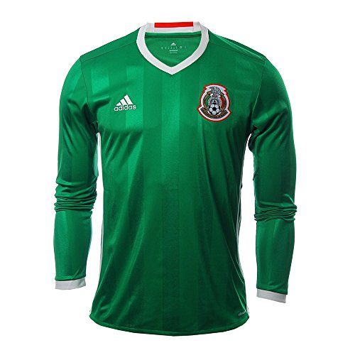 0ace491d ... (M) adidas MEXICO NATIONAL SOCCER TEAM 2016 COPA AMERICA MENS HOME LONG  SLEEVE JERSEY (Large) ...