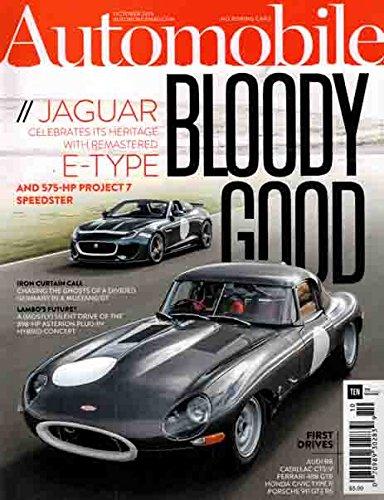 Automobile October 2015 Bloody Good Jaguar E Type 575-HP Project 7 Speedster