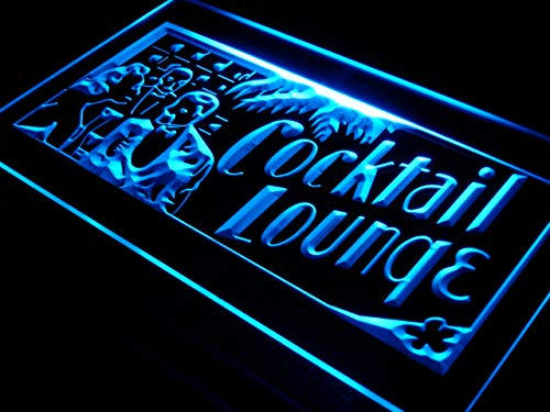 ADVPRO Cartel Luminoso j331-b Cocktails Lounge Display Bar ...