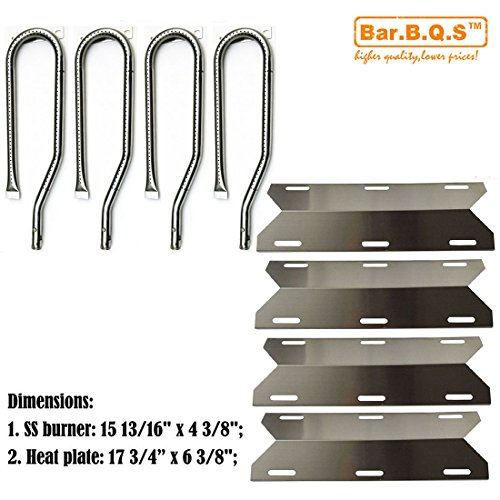 Bar.b.q.s Parts Kit Replacement Jenn Air Gas Grill 720-0337 Gas Grill Burners,Heat Plates,Cooking grids(Stainless Steel Burner, Stainless Steel Heat Plate )