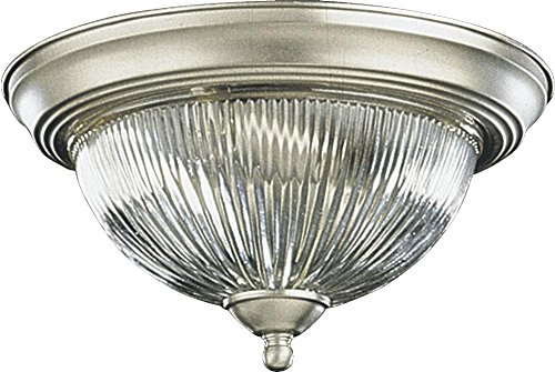 Two Light Satin Nickel Bowl Flush Mount Model-3070-11-65 by Quorum International