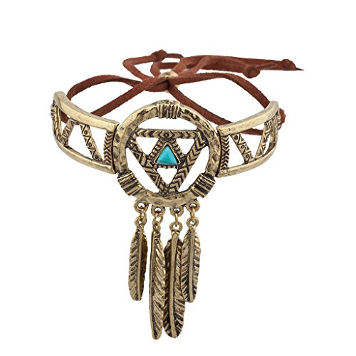 Lux Accessories Burnish Gold Dream Catcher Navajo