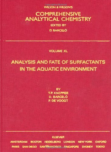 Download Analysis and Fate of Surfactants in the Aquatic Environment: XL (Comprehensive Analytical Chemistry) Pdf
