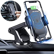 Wireless Car Charger DINTO Automatic Clamping Qi Car Mount 10W/7.5W Fast Charging Car Phone Holder Air Vent & Dashboard Compatible with iPhone Xs/Xs Max/XR/X/8/8 Plus, Samsung Galaxy Note 9/S9/S9+