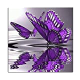 Blxecky 5D DIY Diamond Painting By Number Kits,butterfly(12X12inch/30X30CM)
