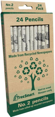 (Recycled Newspaper Pencils - Set of 24 by Tree Smart)