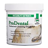 Top Performance ProDental Cleansing Pads — Safe and Effective Pads for Cleaning Pets' Teeth and Gums, 100-Pack