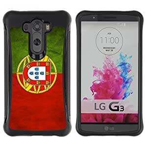 Suave TPU GEL Carcasa Funda Silicona Blando Estuche Caso de protección (para) LG G3 / CECELL Phone case / / National Flag Nation Country Portugal /