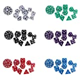 MonkeyJack Pack/60pcs Digital Dice Multi-sided Dices Set for Dungeons & Dragon D&D RPG Playing Board Game Dice Toys Party Supplies