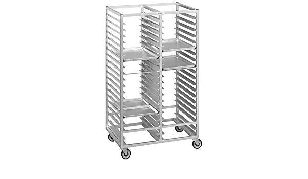 Amazon Com Channel Manufacturing 460a6 38 Tray Bottom Load Double Aluminum Cafeteria Tray Rack Assembled Home Kitchen