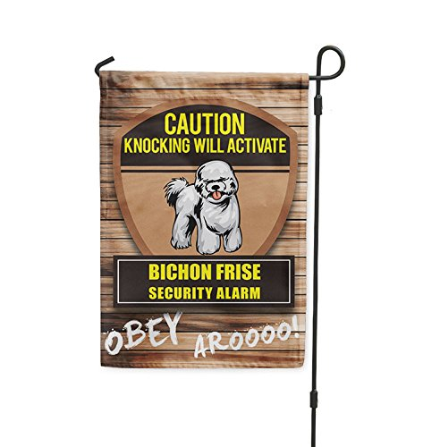 - Fastasticdeals Knocking Will Activate Bichon Frise Dog Yard Patio House Banner Garden Flag Flag Only 10 1/2