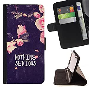 For Sony Xperia M4 Aqua Case , Motivación divertido Flores Rose- la tarjeta de Crédito Slots PU Funda de cuero Monedero caso cubierta de piel