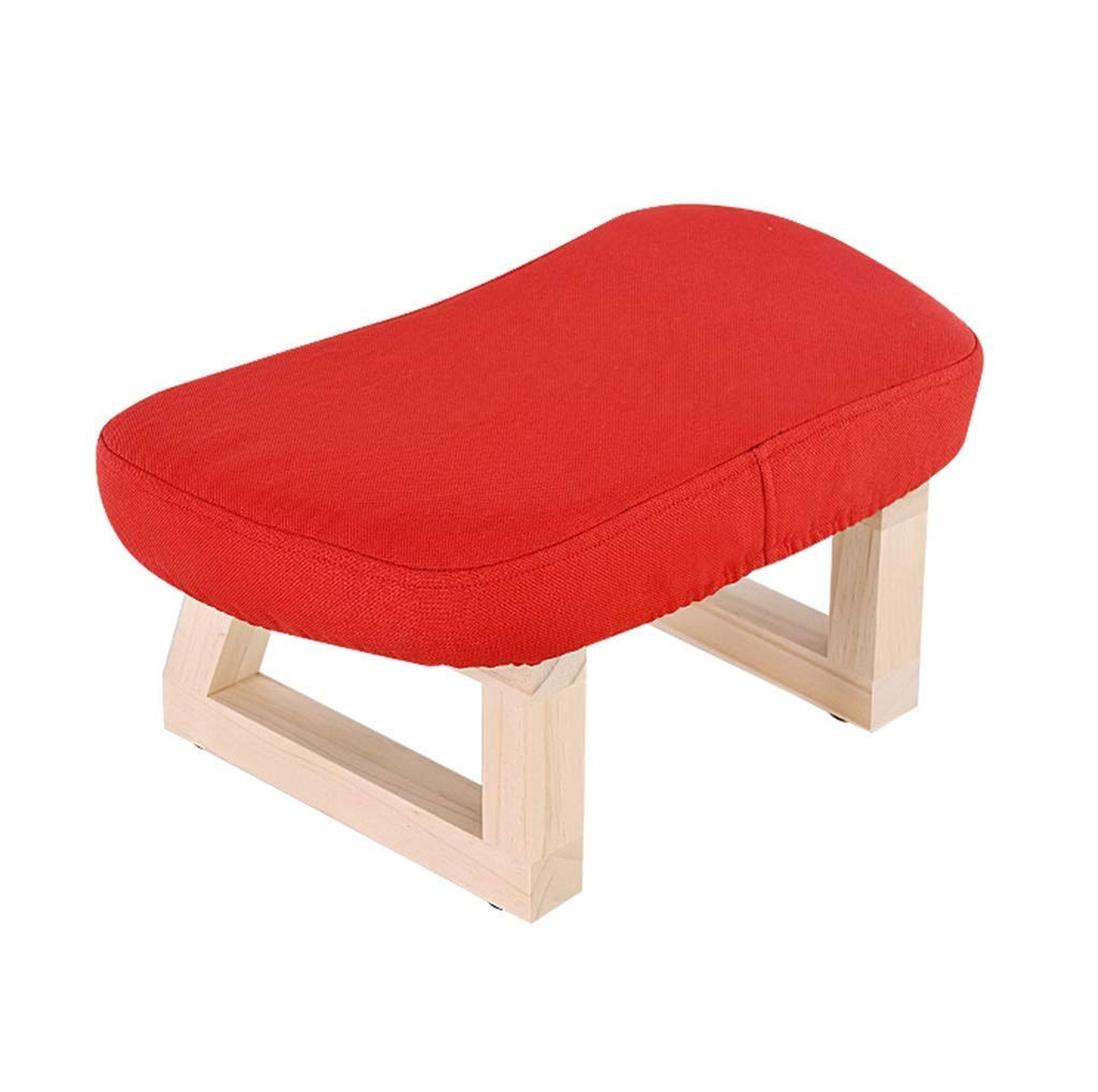 Solid Wood Stool, Living Room Creative Small Bench Sofa Change Shoe Bench Fabric Stool (Color : Blue) WBB