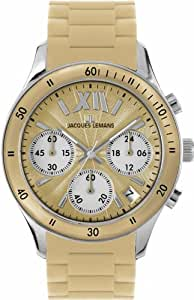 Jacques Lemans Women's 1-1587M Rome Sports Sport Analog Chronograph with Silicone Strap Watch