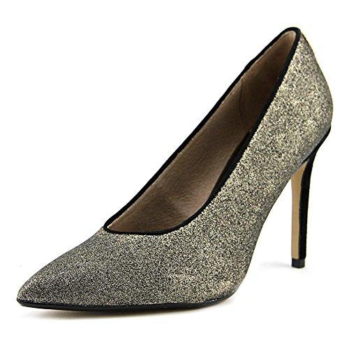 Nina Originals Women's Refine2 Dress Pump, Platino Brushed Glitter, 9 M (Brushed Gold Footwear)