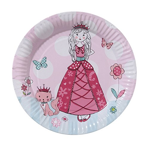 Talking Tables Princess Party Paper Plates for a Birthday Party, Multicolor (8 -