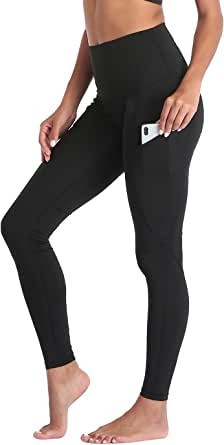 HDE Yoga Pants Athletic Workout High Waisted Leggings for Women with Pockets