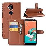 Asus ZenFone 5Q ZC600KL Case,MYLB Litchi Skin PU Leather [Wallet Flip Cover] [Card Holder] Stand Magnetic Folio Case for Asus ZenFone 5Q ZC600KL Smartphone (Brown)