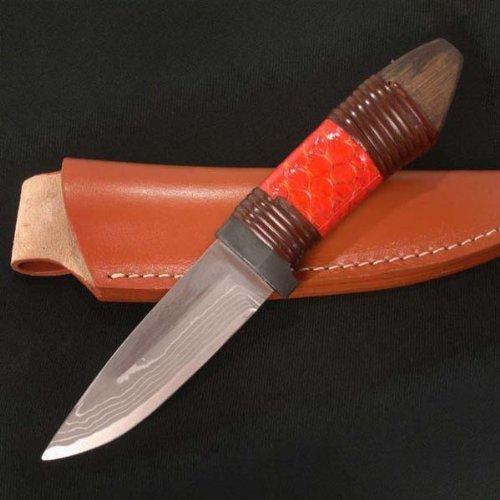 佐治武士 こいのぼり 鯉鱗 赤 和式ナイフ B00G0NFC8G