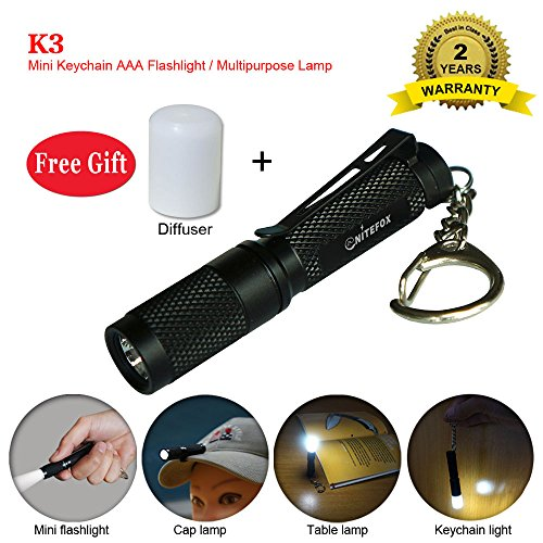 Mini AAA Keychain Flashlight K3,150 Lumens 3 Modes and Strobe,Multipurpose as Caplight Camplight Tablelight,Small Bright Waterproof Torch for EDC,Dog Walking,Reading,Sleep,Camping,Hiking, Emergency