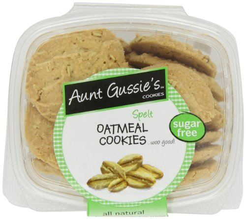 Aunt Gussie's Sugar Free Oatmeal Cookies, 7-Ounce Tubs (Pack of 4)