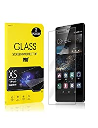 Huawei P8 Screen Protector, Bear Village® Tempered Glass Screen Protector [Lifetime Warranty], 9H Hardness Screen Protector Film for Huawei P8-2 PACK