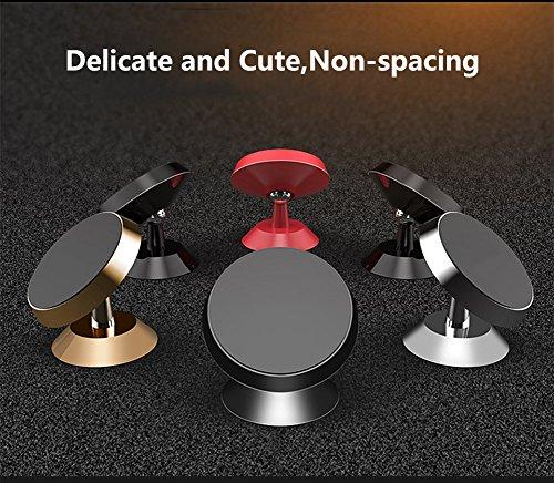 Magnetic Car Mount Holder Rotating,HONRIYA Universal Magnet Car Phone Mount for iPhone X/8/7/6,Android Cell Phone(Black) by HONRIYA (Image #4)