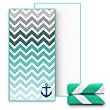 Ricdecor Beach Towel Large Beach Blanket Towel with Tassels Ultra Soft Super Water Absorbent Multi-Purpose Beach Throw Oversized 31.5'' x 63'' By (Stripe_green)