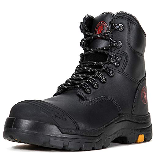 ROCKROOSTER Work Boots Men's Work Boots, Work Boots for Men, Steel Toe Boots, Safety Toe Boots, Water Resistant Shoes, Antistatic Shoes, Width EEE - Wide (AK245 8 jx)