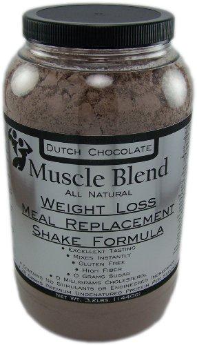 Muscle Blend, perte de poids substitut de repas secouer formule, 100% naturel, £ 3 cruche (chocolat)