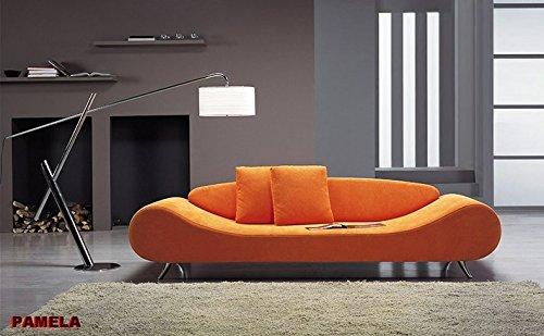 Calia Maddalena–Sofa Design Pamela Leder spessorata Divano 3 posti - 225x72x92 cm Pelle Spessorata Verde Scuro